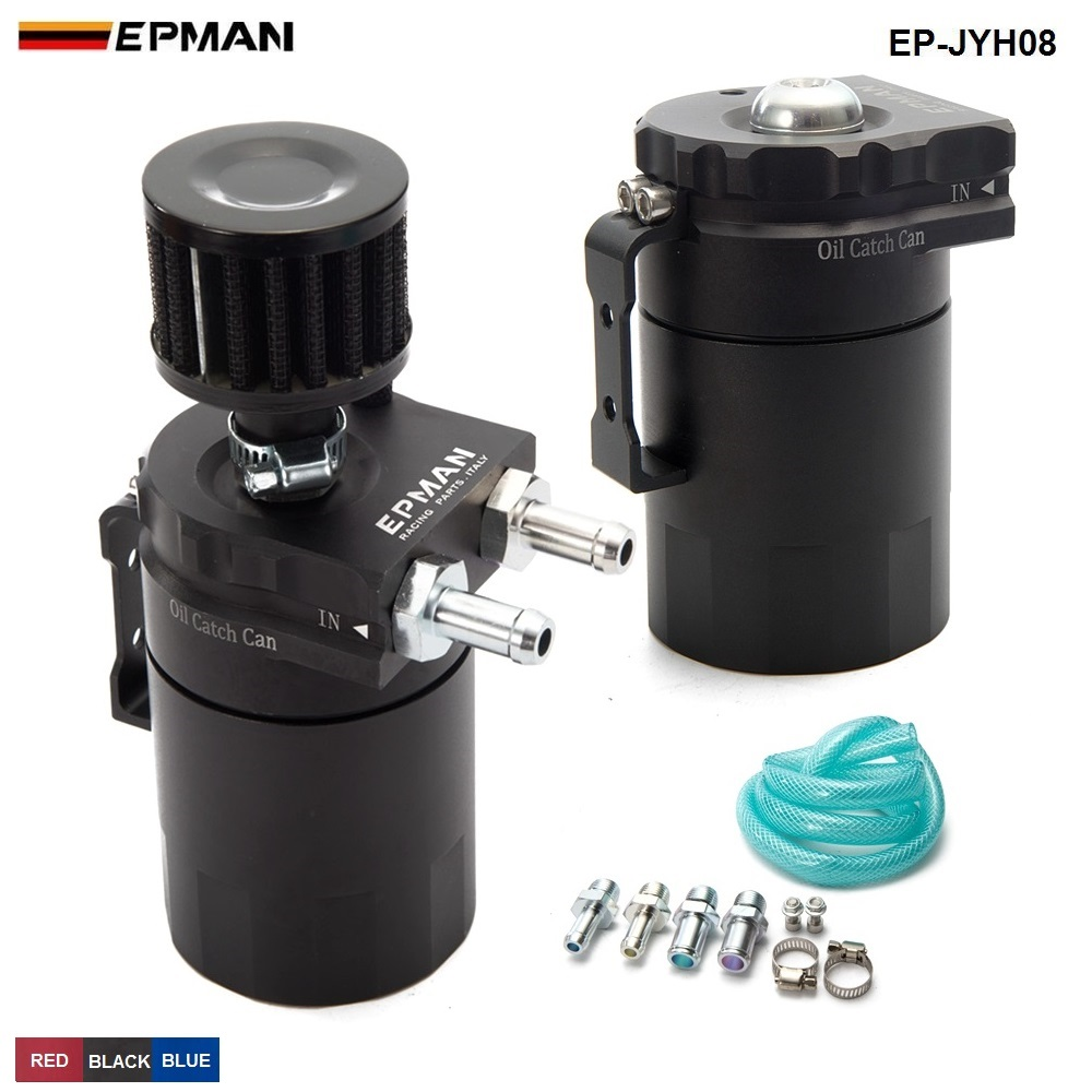 Aluminio universal aceite del tanque + filtro color: negro rojo azul EP-JYH08