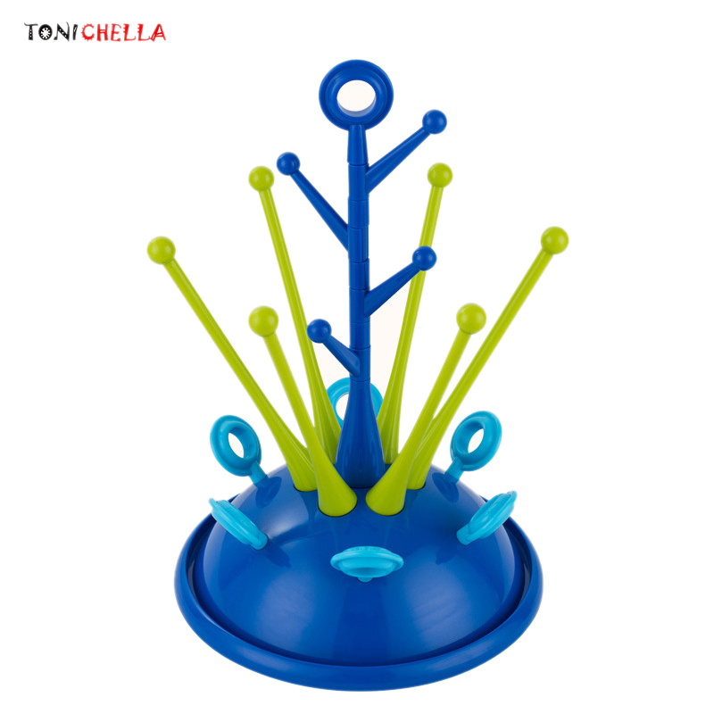 baby-bottle-drying-rack-pacifier-nipple-drier-cute-tree-shape-cups-holders-infant-feeding-shelf-detachable-easy-clean-t0508