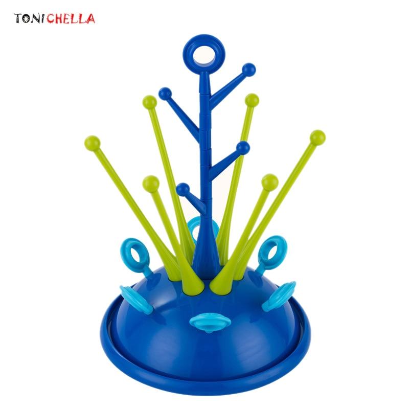 Baby Bottle Drying Rack Pacifier Nipple Drier Cute Tree Shape Cups Holders Infant Feeding Shelf Detachable Easy Clean T0508
