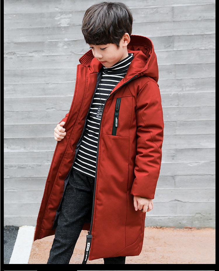 -30 degree children clothing 19 boy clothes warm winter down cotton jacket Hooded coat waterproof thicken outerwear kids parka 3