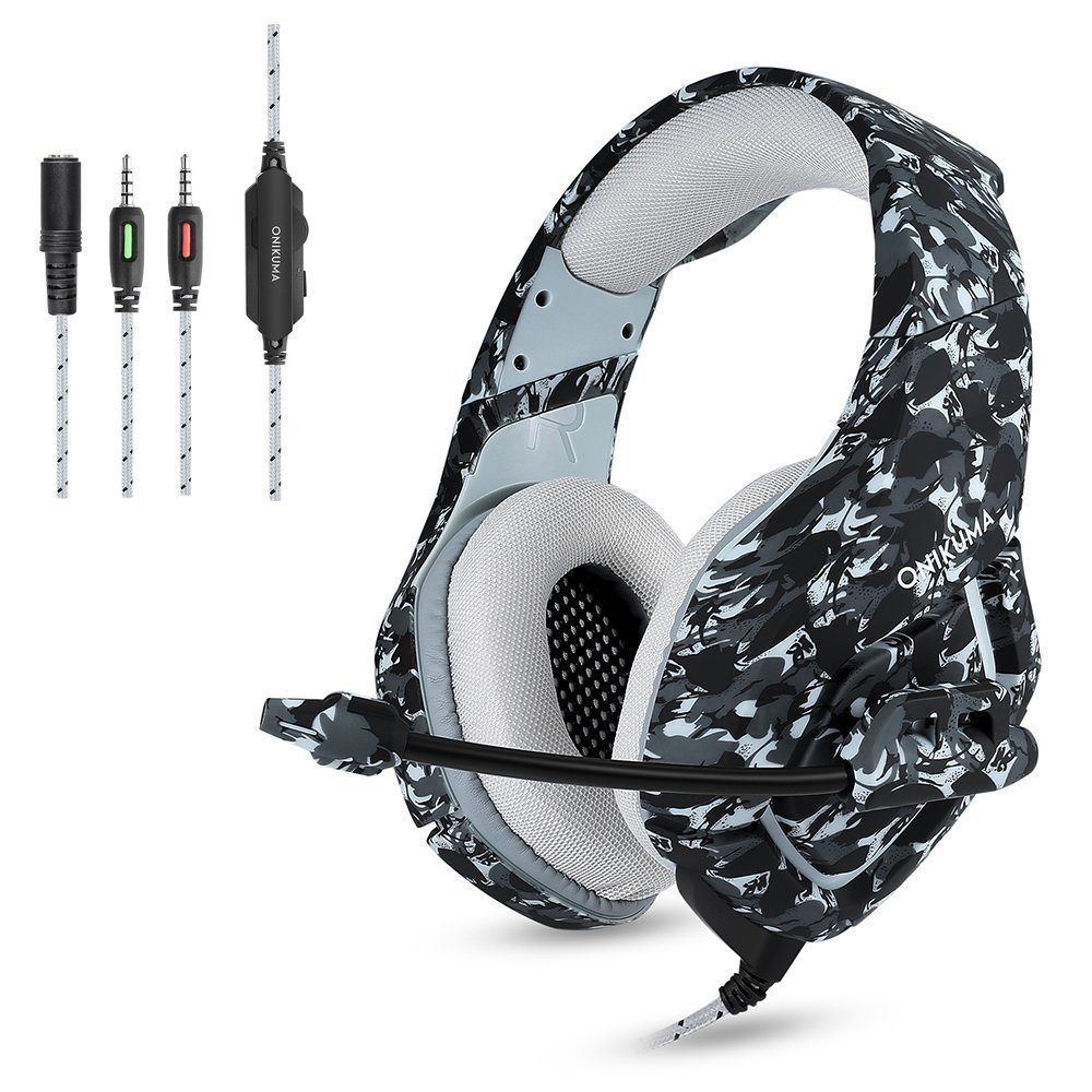 Gaming Headset Each for PS4 New Xbox one PC Mac Over Ear 3.5mm Headphones with Mic Noise Isolating Deep Bass Surround pc gaming headset gm 3 wired stereo led light bass over ear professional gaming headphones with 3 5mm mic noise isolating