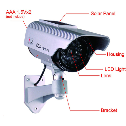Fake Dummy Camera Waterproof Outdoor Fake Camera Battery Powered Flicker Blink LED Security Bullet CCTV Camera Multan
