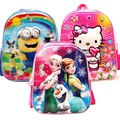 3D Children Despicable Me School Bags Elsa Anna Bags Cartoon Backpack For Kids Girls Boys Mochila Infantil First Grade Bags