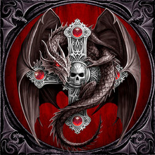 NEW Full drill Diamond 5D DIY  Painting Skull dragon Embroidery Cross Stitch Rhinestone Mosaic gift
