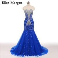 Sexy blue mermaid corset prom dresses 2017 elegant runway shiny tulle long crystal stones elegant formal.jpg 200x200