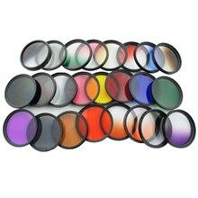 Knightx 37mm 52mm 58 mm 37 gopro 액세서리 nd fld 레드 렌즈 컬러 필터 for sony canon nikon for gopro hero 4/3 +/3 52 58 mm