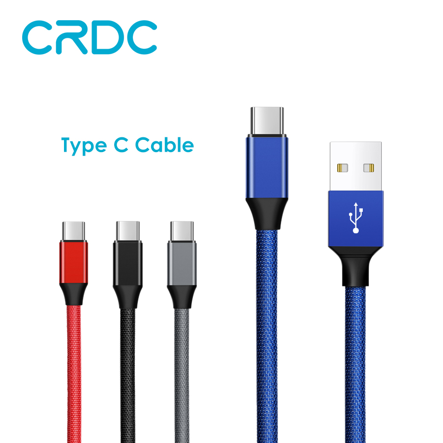 CRDC USB Type C Cable For Samsung S8 Note 8 USB Type C Charger Cable For Xiaomi Mi5 Mi6 Mobile Phone Cable 1M 2M USB-C Cable