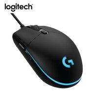 Новый Logitech G Pro Gaming Мышь геймер профессиональный проводной Игры Мыши компьютерные 12000 точек/дюйм RGB подсветкой розничная продажа Вышивка Кре