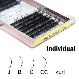 Image 4 - Lagee 5 casos/lote todo o tamanho extensões de cílios individuais premium falso sintético vison cílios falsos macio e natural