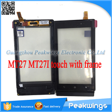 For Sony Xperia Sola MT27 MT27i Touch Screen Digitizer Panel With Frame