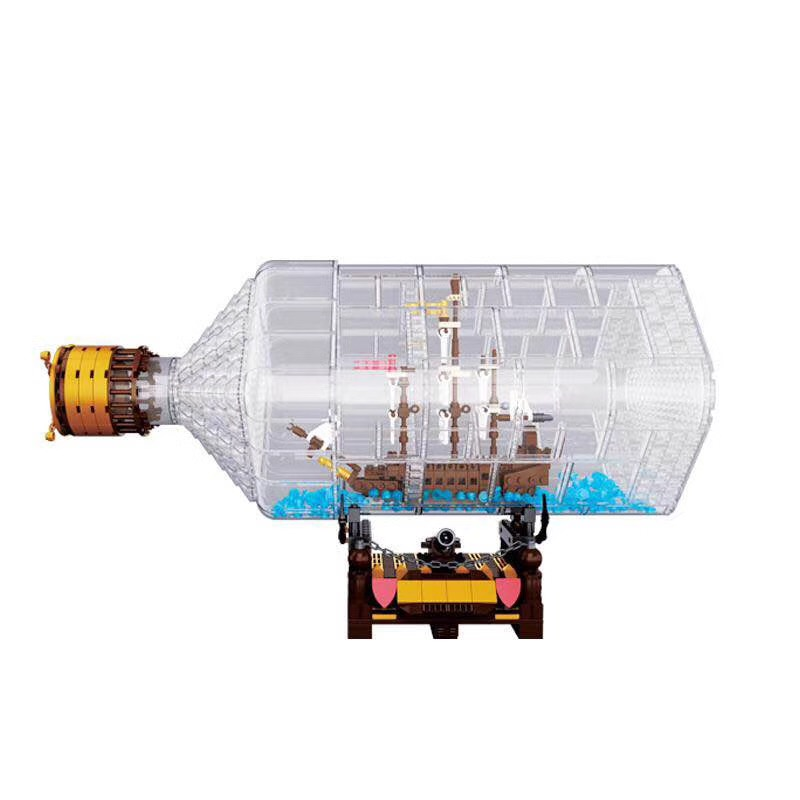 LEPIN 16045 775pcs Creative Series The Ship in the Bottle Set Model Building Blocks Bricks for Children Toys Christmas Gifts 8 in 1 military ship building blocks toys for boys