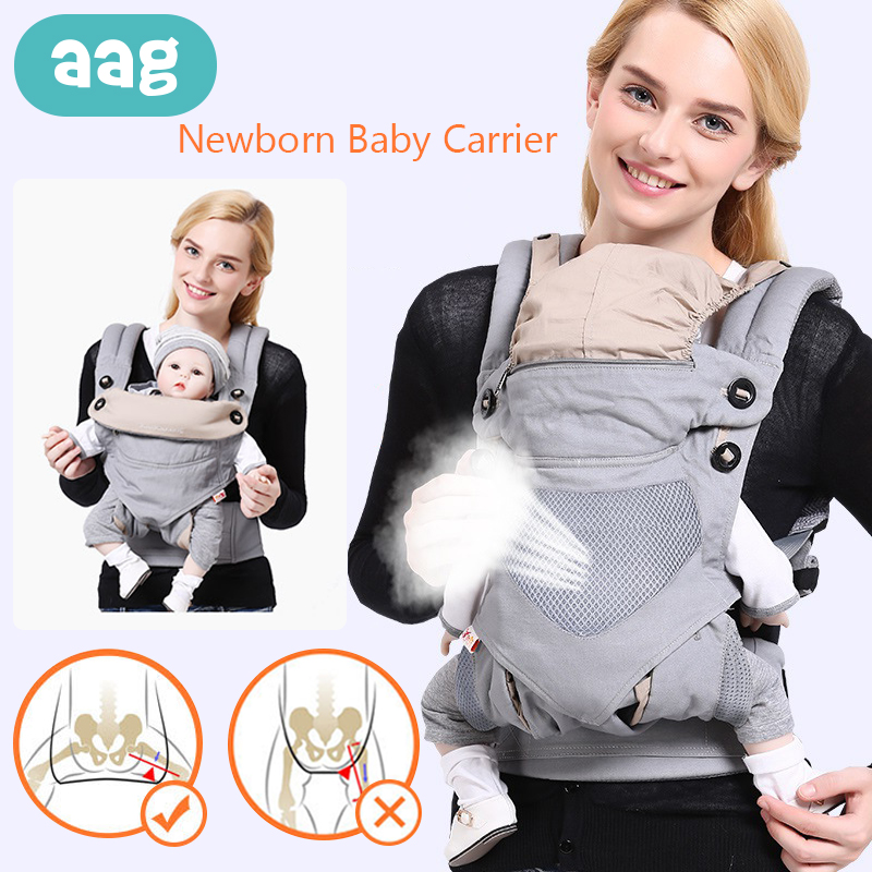 Aag Ergonomic Baby Carriers Backpacks Baby Carrier Sling Portable Breathable Infant Sling Wrap