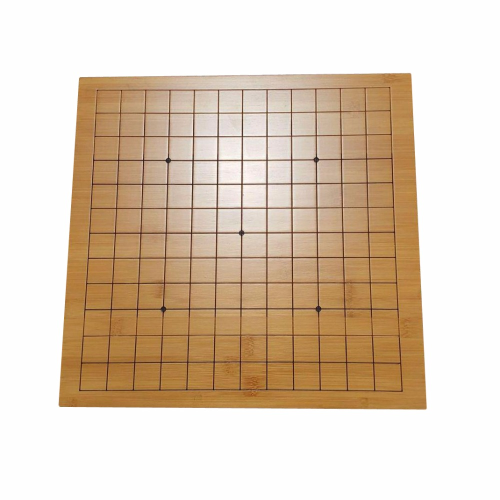BSTFAMLY Bamboo board Go Chess 13 Road and 9 Road Chessboard 30 31 5 2cm Old