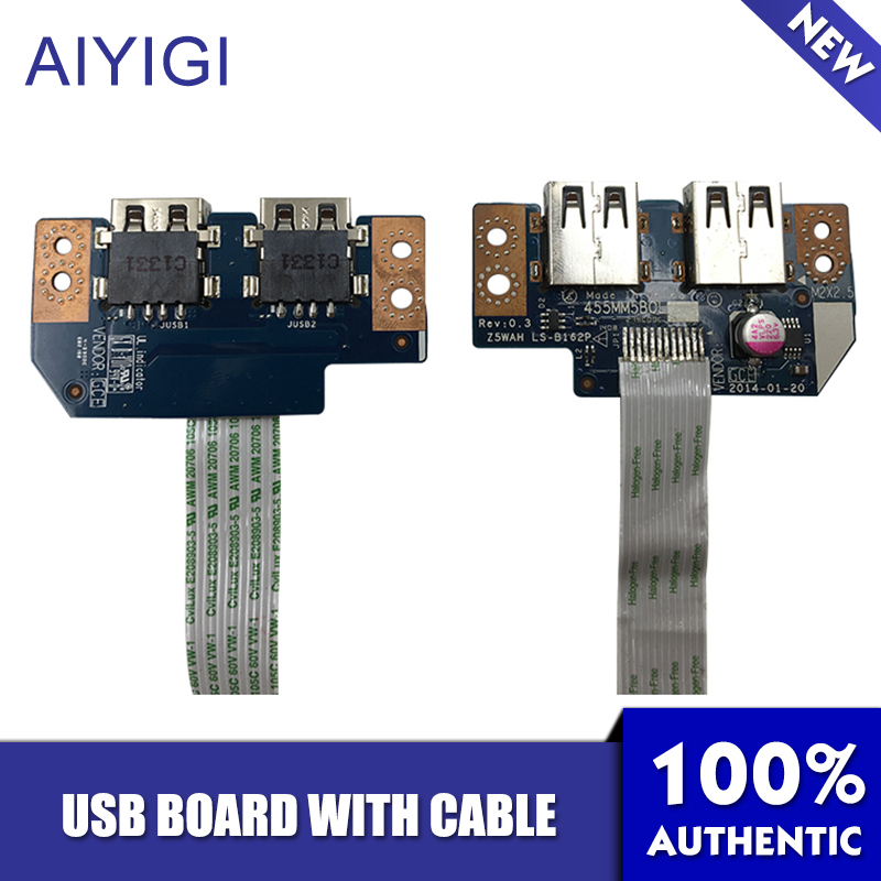 AIYIGI 100 Brand New USB Board with Cable For Acer Aspire E5 521 E5 571 USB Board LS B162P Notebook Accessories Well Tested in Computer Cables Connectors from Computer Office