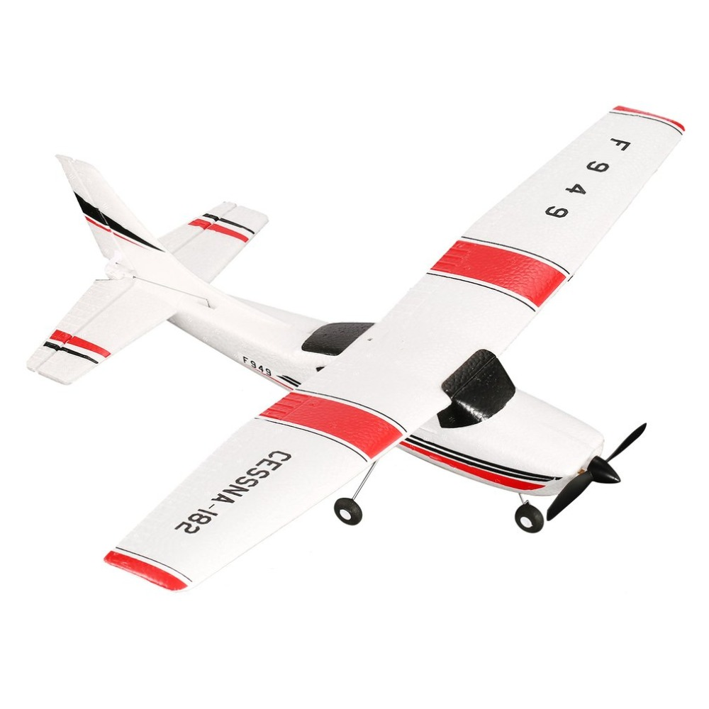 WLtoys F949 3 Channel 2.4GHz Radio Control RC Airplane Fixed Wing RTF CESSNA-182 Plane Outdoor Drone Toy for Ages 14+ Children