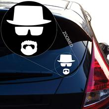 Walter White Heisenberg Breaking Bad Decal Sticker for Car Window, Laptop, Motorcycle, Walls, Mirror and More.