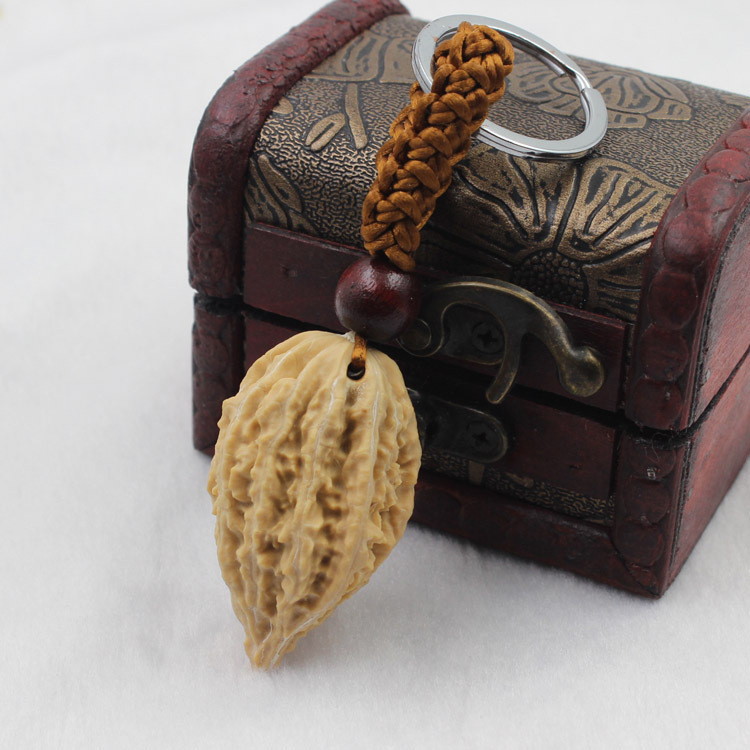 2017 SUPIN <font><b>Novelty</b></font> Pecan Original <font><b>Seed</b></font> Lady Keychain Classic Walnut Plant Key Chain Ring Men Chains Keyring For Bag Keys Pendant