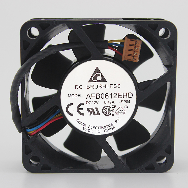 Wholesale Delta 60 AFB0612EHD DC 12V 0.47A 60*60*MM 6CM 4-line Double Ball Power Mute Cooling Fan