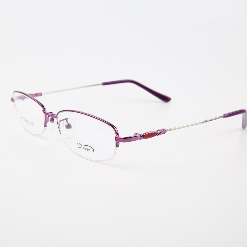 Chashma Memory Alloy Half Frame Lady Black Purple Pink Color ...