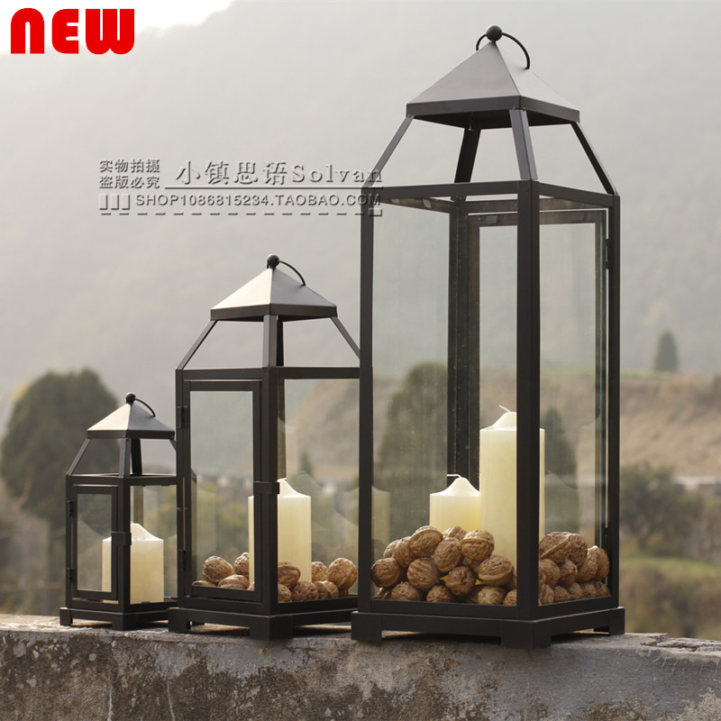Large Outdoor Candle Lanterns Aliexpresscom Buy American Country Nordic  Retro Outdoor Glass