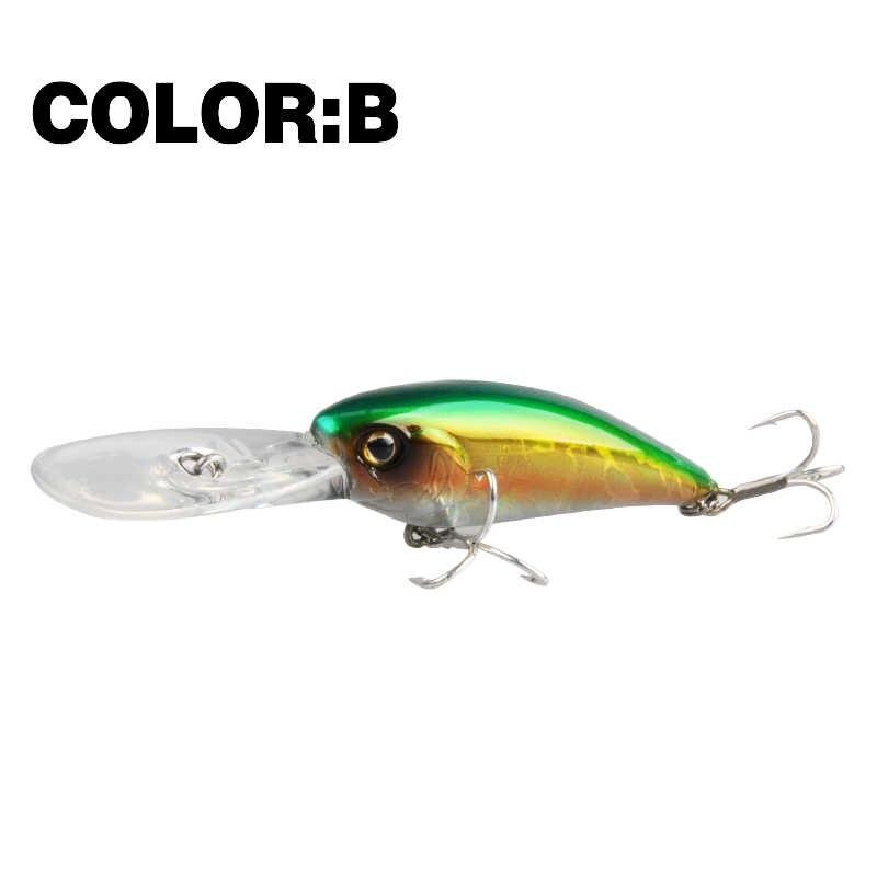 السيد. تشارلز CMC053 الصيد إغراء 60 مللي متر/8.5g 0-2.3M العائمة D عيون الصيد معالجة شاد أسماك الطعوم الثابت Crankbait Wobblers الصيد