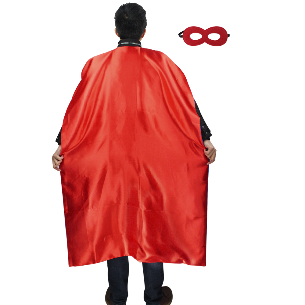 Special L 55* Halloween costumes for women red long cape mask costume birthday Christmas reversible cosplay cloak