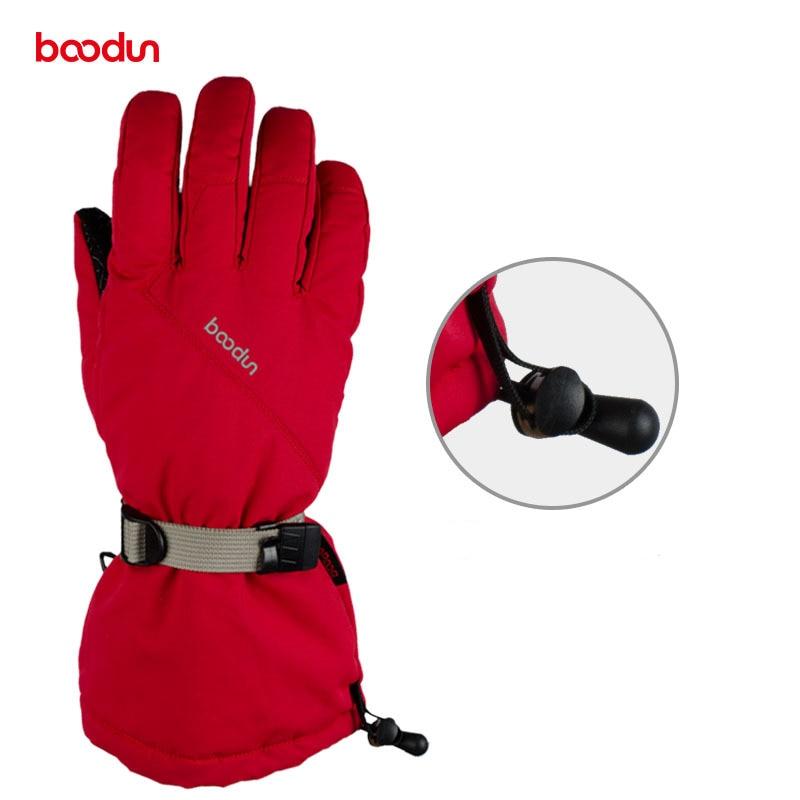 Boodun Winter Cycling Gloves Outdoor Sports Mens Ski Glove Waterproof Women Snowboard Bicycle Gloves Warm Skiing Bike Gloves