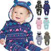 Baby Overalls Boy Girl Winter Fall Coat Parkas Suit Break Children Newborn Clothes Layette DownThicker Print