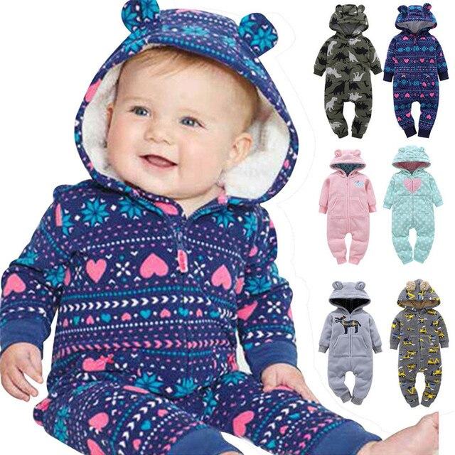 Camici del bambino della ragazza del ragazzo Autunno inverno cappotto parka  tuta rompere bambini vestiti neonato babefd8ad81