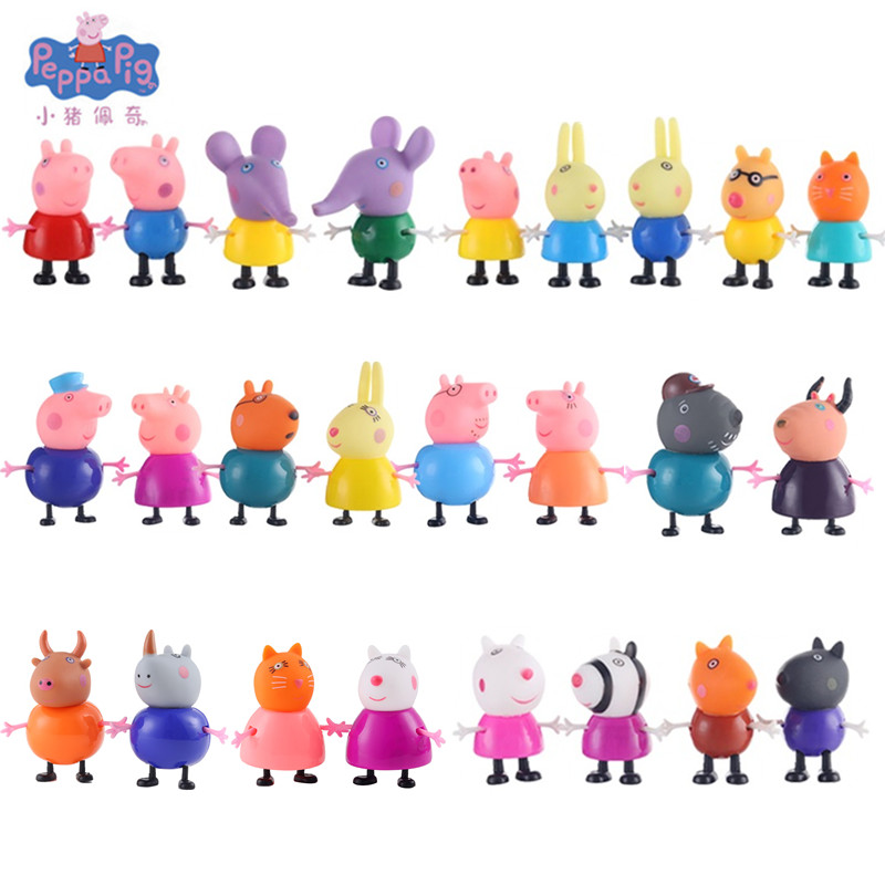 25 Styles Pink Pig Peppa Pig George Friend Family Pack Dad Mom Action Figure Original Pelucia Anime Toys Boy girl Gift Set25 Styles Pink Pig Peppa Pig George Friend Family Pack Dad Mom Action Figure Original Pelucia Anime Toys Boy girl Gift Set