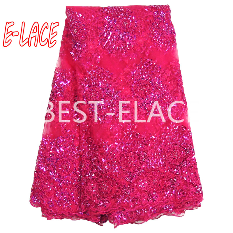 E-LACE SHOP African Lace Fabric 2017 Embroidered Nigerian Laces Fabric Bridal High Quality African Swiss Laser Fabric For Women 1613b0990d50
