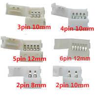 Livraison Gratuite 5 pièces 2pin 3pin 4pin 5pin 6pin LED connecteur Clip pour 5050 3528 3014 WS2812b LED lumière De Bande