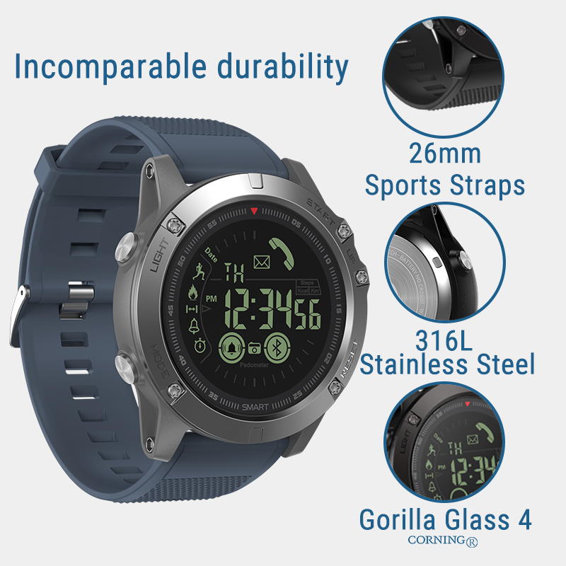 New Zeblaze VIBE 3 Flagship Rugged Smartwatch 33-month Standby Time 24h All-Weather Monitoring Smart Watch For IOS And Android 5