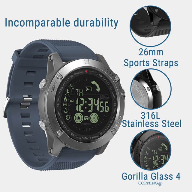 New Zeblaze VIBE 3 Flagship Rugged Smartwatch 33-month Standby Time 24h All-Weather Monitoring Smart Watch For IOS And Android 4