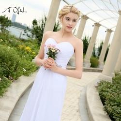 ADLN Stock Chiffon Wedding Dresses with Rhinestones Robe de Mariage Sweetheart vestido de noiva Cheap Beach Bridal Gowns 4