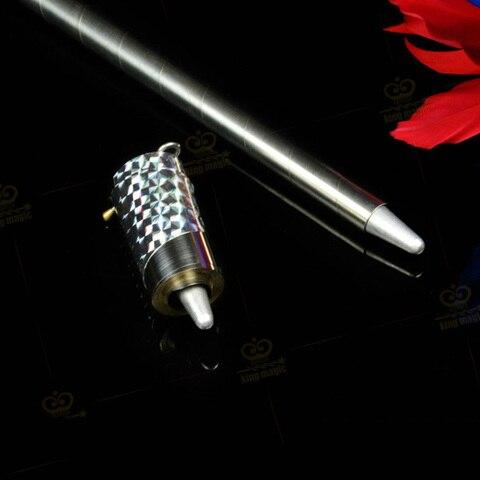 alta qualidade 150 180 cm de comprimento prata aparecendo cane bastao de metal magico truques