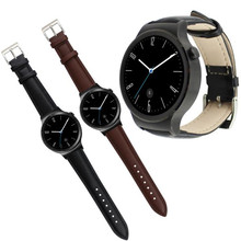 20mm Negro y Brown Correa de Reloj Pulsera de Lujo del Cuero Genuino Para Huawei Inteligente Reloj Reloj Correa de Reloj Al Por Mayor accesorios