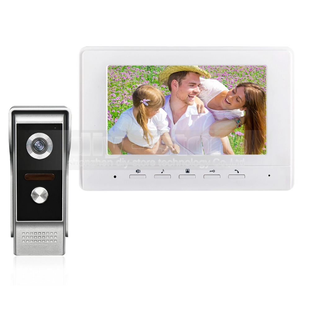 DIYSECUR 7inch Video Intercom Video Door Phone 700TV Line IR Night Vision Outdoor Camera for Home / Office Security System аксессуар переходник proconnect тефаль white 11 1041 9