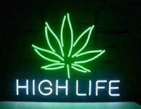 Custom High Life Neon Light Sign Beer Bar