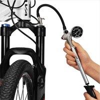 Bicycle Pump With High Pressure Manometer Mini Hand Pump Air hose Schrader Cycling Fietspomp Fork Shock Tire Bike pump