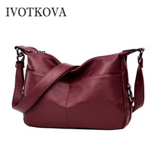 IVOTKOVA Casual Women Bag Fashion Shoulder New Design Female Handbag & Purses Vintage Pu Leather Ladys Tote Drop Shipping