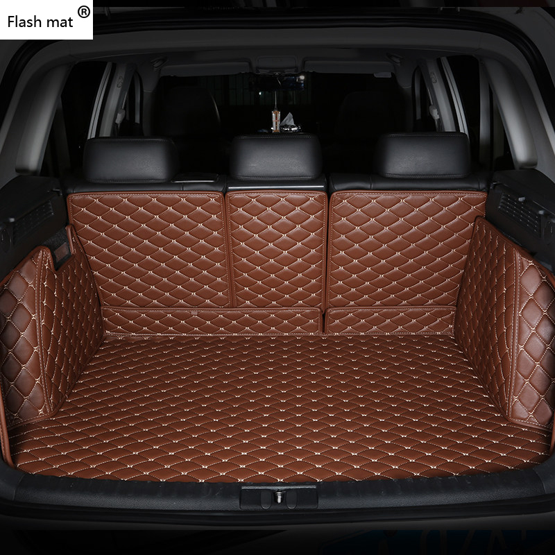 Image 4 - Flash mat leather Car Trunk Mats for BMW e30 e34 e36 e39 e46 e60 e90 f10 f30 x1 x3 x4 x5 x6 1/2/3/4/5/6/7 car cargo liner