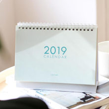 1 pcs 2019 year multi function seansom color desk calendar desktop wall calendar scheduler planner