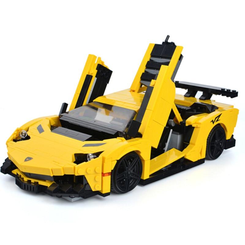 Oyuncaklar ve Hobi Ürünleri'ten Bloklar'de 2019 YENI Teknik MOC Sarı Aventadored Araba Yapı Taşları Setleri Tuğla Klasik Şehir Model Çocuklar hediye oyuncaklar Uyumlu'da  Grup 1