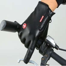riding gloves for outdoor sports men and women PU gloves winter whole finger mountaineering prevent cold and keep warm antiskid недорого