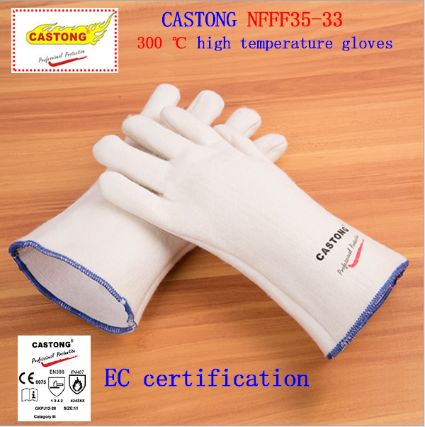 CASTONG 300 Degrees High Temperature Gloves Aramid Material High Quality Fireproof Gloves Anti-scalding Protection Gloves