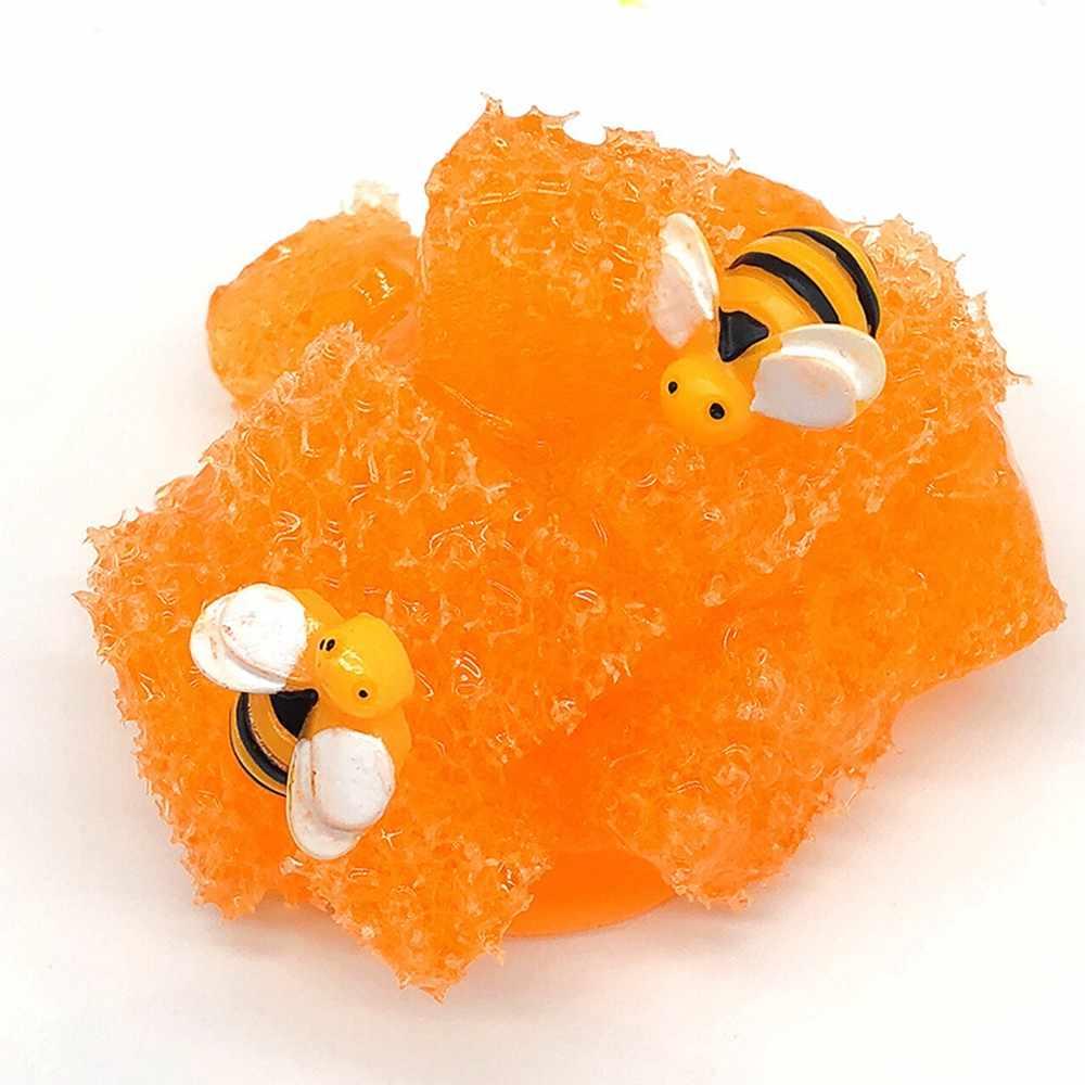 Fulljion Fluffy Slime Clear Plasticine Kits Slime Modeling Box Butter Clay Honey Lizun Glue Bee Toys Stress Relief DIY Handgum