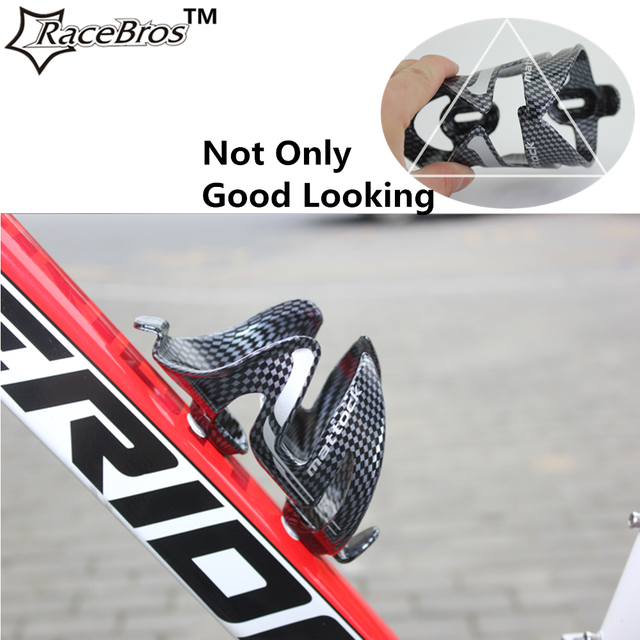 785b982a859 Bike Water Bottle Holder Bicycle Cycling Glass Fiber Drink Water Bottle  Holder Cage Rack Ultra-light Black Carbon Water Holder