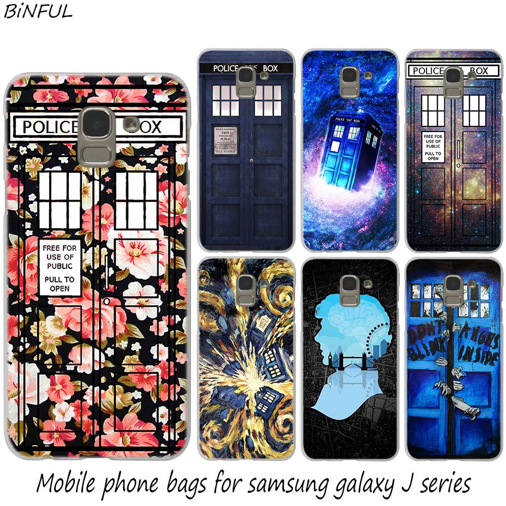 Fitted Cases Case Soft Cover Tpu Coque For Samsung Galaxy J6 J8 J5 J7 J4 Plus 2018 2016 2017 Eu Prime Pro Ace J610 Tardis Box Doctor Who Tv