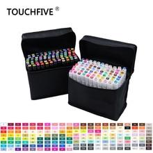 Touchfive 30 40 60 80 168 цветов Набор маркеров для эскизов Кисть ручка двойная головка набор маркеров для рисования манга анимационный дизайн